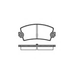 REMSA 0021.40 Комплект тормозных колодок, дисковый тормоз Лансия