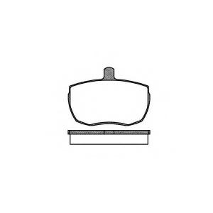 REMSA 0056.00 Колодки гальмівні дискові
