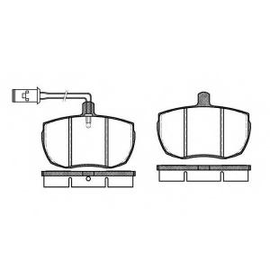 REMSA 005611 Комплект тормозных колодок, дисковый тормоз