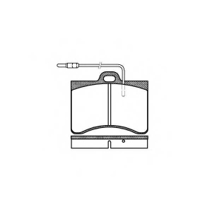 REMSA 0086.04 Комплект тормозных колодок, дисковый тормоз Ситроен Cx