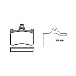 REMSA 0088.10 Комплект тормозных колодок, дисковый тормоз Ситроен Cx