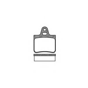 REMSA 0102.00 Комплект тормозных колодок, дисковый тормоз Ситроен Cx