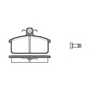 REMSA 0128.00 Комплект тормозных колодок, дисковый тормоз Лансия