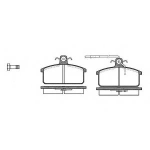 REMSA 0128.32 Комплект тормозных колодок, дисковый тормоз Лансия