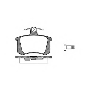 REMSA 0135.20 Колодка торм. AUDI 100 (44, 44Q, C3, 4A, C4) задн. (пр-во REMSA)