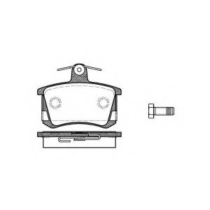 REMSA 0135.40 Колодки гальмівні дискові