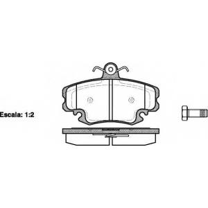 REMSA 0141.20 Колодка торм. DACIA LOGAN, SANDERO, передн. (пр-во REMSA)