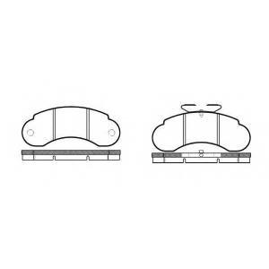 REMSA 0142.10 Колодки гальмівні дискові
