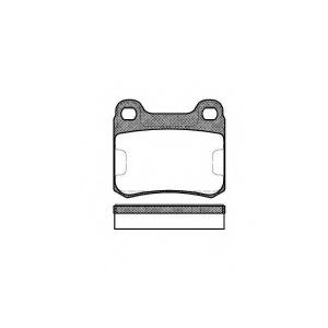REMSA 0157.00 Колодка торм. MB 190 (W201) задн. (пр-во REMSA)