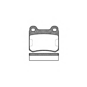 REMSA 0157.10 Колодка торм. MB 190 (W201), C-CLASS (W202) задн. (пр-во REMSA)