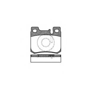 REMSA 0157.20 Колодка торм. MB 190 передн. (пр-во REMSA)