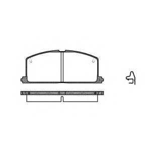 REMSA 0167.04 Колодка торм. TOYOTA COROLLA передн. (пр-во REMSA)