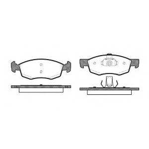 REMSA 0172.30 Колодка торм. FIAT DOBLO передн. (пр-во REMSA)