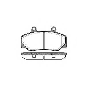 REMSA 017620 Комплект тормозных колодок, дисковый тормоз