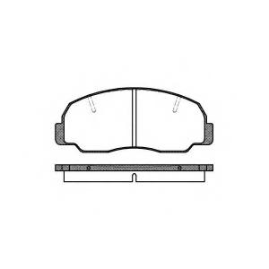 REMSA 0178.10 Комплект тормозных колодок, дисковый тормоз Дайхатсу