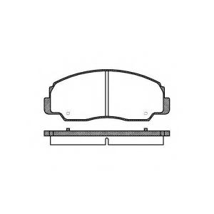 REMSA 0178.20 Комплект тормозных колодок, дисковый тормоз Дайхатсу