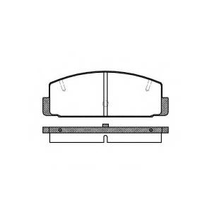 REMSA 0179.20 Колодка торм. MAZDA 626 V (GF)(GW) (04/98-08/02) задн. (пр-во REMSA)