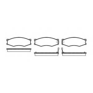 REMSA 0184.02 Комплект тормозных колодок, дисковый тормоз Инфинити