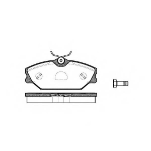 REMSA 0208.00 Колодки гальмівні дискові