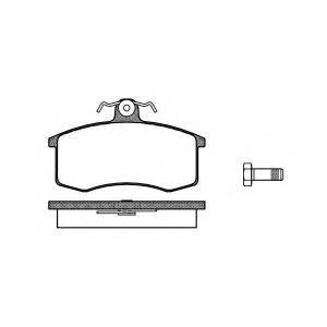 REMSA 0221.00 Колодка торм. LADA (2108, 2109, 21099) передн. (пр-во REMSA)