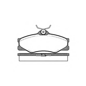 REMSA 0223.00 Колодки гальмівні дискові