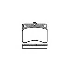 REMSA 0232.00 Комплект тормозных колодок, дисковый тормоз Дайхатсу