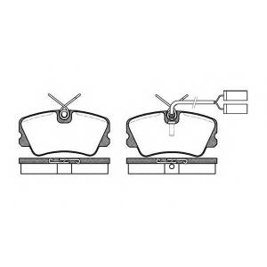REMSA 025902 Комплект тормозных колодок, дисковый тормоз