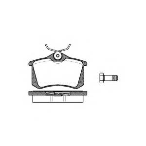 REMSA 0263.01 Колодка торм. AUDI A4 1.8-2.5 -04,A6 -05;VW GOLF II-III -98,PASSAT -00 задн. (пр-во REMSA)