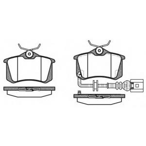 REMSA 0263.41 Колодка торм. AUDI, SEAT, VW задн. (пр-во REMSA)