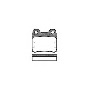 REMSA 0282.00 Колодка торм. SAAB 9000 (09/84-12/98) задн. (пр-во REMSA)
