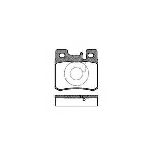 REMSA 0282.20 Колодка торм. MB 190 (W201, W202) задн. (пр-во REMSA)