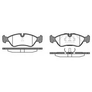 REMSA 0286.10 Колодка торм. OPEL VECTRA A 88-95, VECTRA B 95-03 передн. (пр-во REMSA)