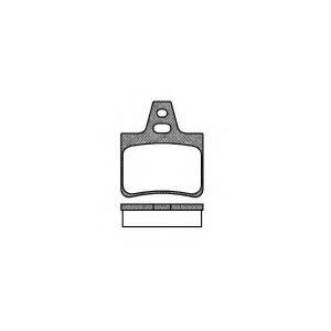 REMSA 0311.00 Комплект тормозных колодок, дисковый тормоз Ситроен Cx
