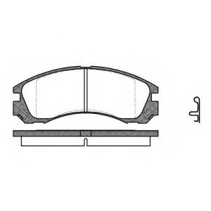 REMSA 0354.22 Колодка торм. MITSUBISHI LANCER VI (CK/P_A), OUTLANDER, PAJERO II (V2_W) передн. (пр-во REMSA)