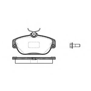 REMSA 0368.10 Колодки гальмівні дискові