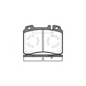 REMSA 0379.00 Колодка торм. MB W201/E-CLASS W124/E-CLASS W210/SL R129 01.1991- передн. (пр-во REMSA)
