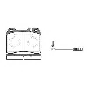 REMSA 0379.12 Колодка торм. MB 190 (W201), E CLASSE (W124, C124, W210, S210) передн. (пр-во REMSA)