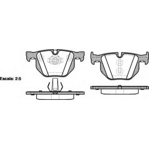 REMSA 0381.61 Колодки гальмівні дискові