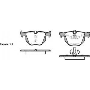 REMSA 0381.70 Колодка торм. BMW 3 (E90,E93,E92,E91), 5 (E60) задн. (пр-во REMSA)