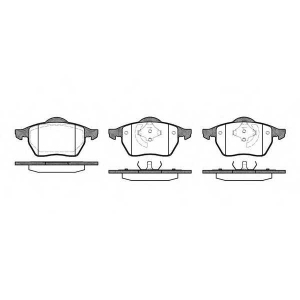REMSA 0390.01 Колодка торм. AUDI A4, VW GOLF IV передн. (пр-во REMSA)
