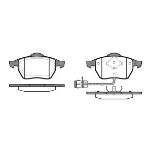 REMSA 0390.02 Колодка торм. AUDI 100 (44, 44Q, C3, 4A, C4) передн. (пр-во REMSA)