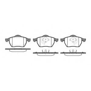 REMSA 0390.20 Колодка торм. AUDI A3,SEAT IBIZA III, SKODA,VW передн. (пр-во REMSA)