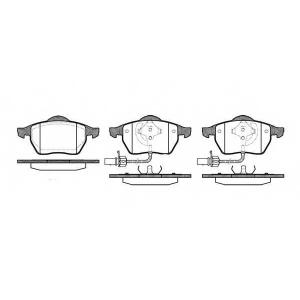 REMSA 0390.22 Колодка торм. AUDI A4, A6, SKODA SUPERB, VW PASSAT передн. (пр-во REMSA)