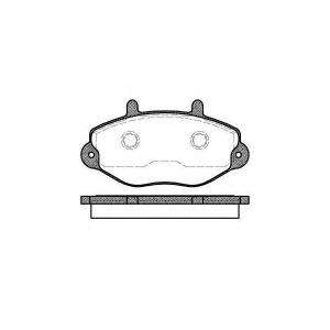 REMSA 0392.00 Колодки гальмівні дискові