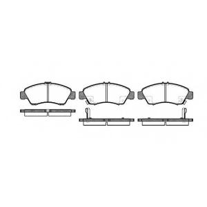 REMSA 0419.02 Колодки тормозные дисковые передние, комплект