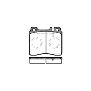 REMSA 0420.00 Колодки гальмівні дискові
