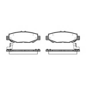 REMSA 0424.04 Колодки гальмівні дискові
