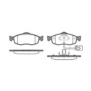 REMSA 0432.02 Колодка торм. FORD MONDEO 93-00,SCORPIO 95-98 передн. (пр-во REMSA)