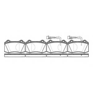 REMSA 0434.02 Комплект тормозных колодок, дисковый тормоз Крайслер Випер