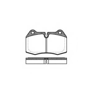REMSA 0441.00 Колодка торм. BMW 5 (E34), 7 (E38), 8 (E31) передн. (пр-во REMSA)